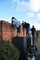 People watching Flying Scotsman, Norwich station, UK Nov 2017