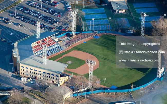The Stade Municipale baseball stadium in Quebec city is pictured in this aerial photo November 11, 2009. The Stade Municipale is the home of the Capitale de Quebec baseball team from the Ligue Canam league.