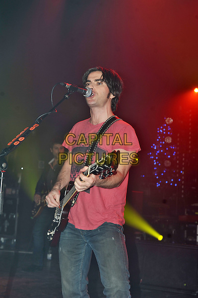 Kelly Jones.Stereophonics performing live in concert, Shepherd's Bush Empire, London, England. .20th December 2011.on stage live gig performance music half length red t-shirt guitar singing.CAP/MAR.© Martin Harris/Capital Pictures.