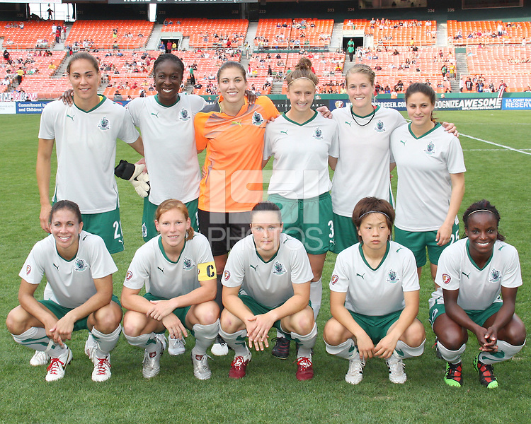 Starting eleven of St. Louis Athletica during a WPS match against the Washington Freedom  on May 1 2010, at RFK Stadium, in Washington D.C.Freedom won 3-1.