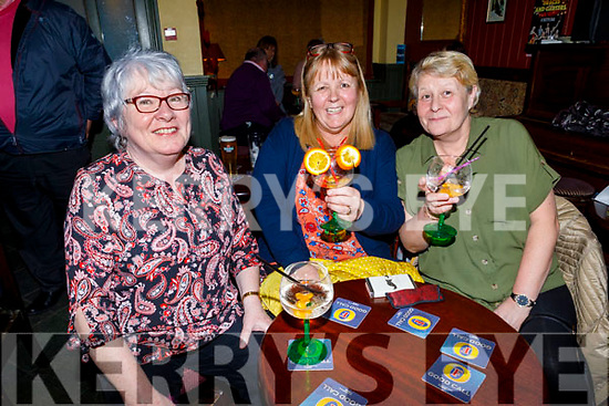 Kit O'Brien, Gwen and Trisha Mooney enjoying the Braces and Garters' Fun Night in Bettys Bar on Friday night.