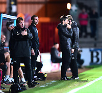 Scunthorpe United manager Stuart McCall shouts instructions to his team from the technical area<br /> <br /> Photographer Andrew Vaughan/CameraSport<br /> <br /> The EFL Checkatrade Trophy Northern Group H - Scunthorpe United v Lincoln City - Tuesday 9th October 2018 - Glanford Park - Scunthorpe<br />  <br /> World Copyright &copy; 2018 CameraSport. All rights reserved. 43 Linden Ave. Countesthorpe. Leicester. England. LE8 5PG - Tel: +44 (0) 116 277 4147 - admin@camerasport.com - www.camerasport.com