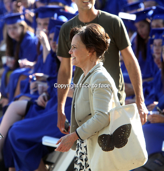 NEW YORK, NY - JUNE 1: Sally Field as Aunt May shooting a graduation day scene on the set of The Amazing Spider-Man 2 in New York City. June 1, 2103. <br /> Credit: MediaPunch/face to face<br /> - Germany, Austria, Switzerland, Eastern Europe, Australia, UK, USA, Taiwan, Singapore, China, Malaysia, Thailand, Sweden, Estonia, Latvia and Lithuania rights only -