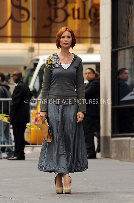 WWW.ACEPIXS.COM . . . . . ....September 9 2009, New York City....Actress Cynthia Nixon on the set of the new 'Sex and the City' movie on September 9 2009 in New York City....Please byline: KRISTIN CALLAHAN - ACEPIXS.COM.. . . . . . ..Ace Pictures, Inc:  ..tel: (212) 243 8787 or (646) 769 0430..e-mail: info@acepixs.com..web: http://www.acepixs.com