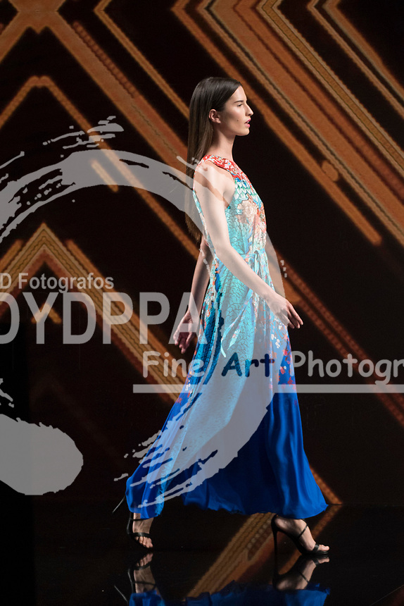 Model Raquel Palomo poses