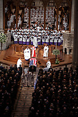 Recessional concluding the memorial service for the late United States Senator John S. McCain, III (Republican of Arizona) in the Washington National Cathedral in Washington, DC on Saturday, September 1, 2018.<br /> Credit: Ron Sachs / CNP<br /> <br /> (RESTRICTION: NO New York or New Jersey Newspapers or newspapers within a 75 mile radius of New York City)