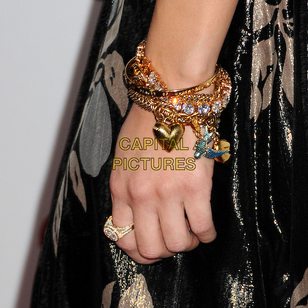 DICHEN LACHMAN'S BRACELET.G-Day USA: Australia Week 2009 Black Tie Gala at the Hollywood & Highland Grand Ballroom, Hollywood, California, USA..January 18th, 2009.hand ring gold charm jewellery jewelry .CAP/ADM/BP.©Byron Purvis/AdMedia/Capital Pictures.