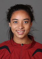 STANFORD, CA - SEPTEMBER 29:  Ebony Smallman of the Stanford Cardinal during track and field picture day on September 29, 2009 in Stanford, California.