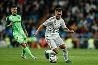 30th October 2019; Estadio Santiago Bernabeu, Madrid, Spain; La Liga Football, Real Madrid versus Leganes; Eden Hazard (Real Madrid)  breaks forward on the ball - Editorial Use