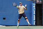 03 April 2015: Notre Dame's Billy Pecor. The Duke University Blue Devils hosted the University of Notre Dame Fighting Irish at Ambler Stadium in Durham, North Carolina in a 2014-15 NCAA Division I Men's Tennis match. Duke won the match 5-2.