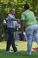 Charley Hoffman (USA) shakes hands with Kiradech Aphibarnrat (THA) following round 4 of the World Golf Championships, Mexico, Club De Golf Chapultepec, Mexico City, Mexico. 3/4/2018.<br /> Picture: Golffile | Ken Murray<br /> <br /> <br /> All photo usage must carry mandatory copyright credit (&copy; Golffile | Ken Murray)