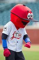 "Chattanooga Lookouts mascot ""Looie"" entertains fans between innings of the game against the Montgomery Biscuits at AT&T Field on July 23, 2014 in Chattanooga, Tennessee.  The Lookouts defeated the Biscuits 6-5. (Brian Westerholt/Four Seam Images)"