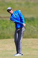 Matais Lezcano (ARG) on the 1st during Round 2 of the East of Ireland Amateur Open Championship 2018 at Co. Louth Golf Club, Baltray, Co. Louth on Sunday 3rd June 2018.<br /> Picture:  Thos Caffrey / Golffile<br /> <br /> All photo usage must carry mandatory copyright credit (&copy; Golffile | Thos Caffrey)