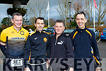 L-R Denis Mccarthy, Conor Freeman, john McKeown and Geoff Stacey ready for  the Tralee 10 miler in aid of Kerry Hospice, last Saturday based in the Rose Hotel, Tralee.