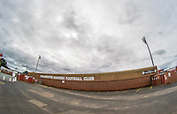 General view of the stadium in the build up to the International match between England U20 and Brazil U20 at the Aggborough Stadium, Kidderminster, England on 4 September 2016. Photo by Andy Rowland / PRiME Media Images.