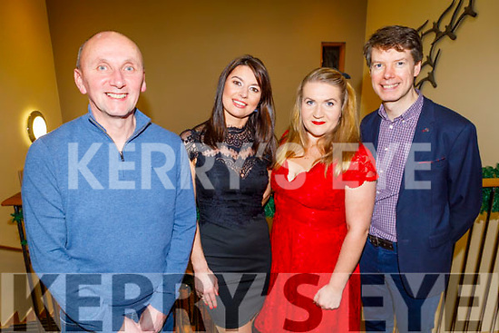 Kevin O'Riordan, Edite Veiemetenko, Justyna Orlik and Peter Harty njoying the CH Chemist Christmas party in the Ballyroe Heights Hotel on Saturday.