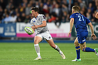 Freddie Burns of Bath Rugby passes the ball. Pre-season friendly match, between Leinster Rugby and Bath Rugby on August 25, 2017 at Donnybrook Stadium in Dublin, Republic of Ireland. Photo by: Patrick Khachfe / Onside Images