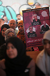 Palestinians take part in a protest to show solidarity with Palestinian Prisoners held in Israeli jails, in front of Red Cross office, in Gaza city, on May 27, 2019. Photo by Mahmoud Ajjour