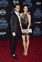 LOS ANGELES, CA - NOVEMBER 29: Matthew Morrison and Renee Morrison attend the Premiere Of Disney's 'Mary Poppins Returns' at El Capitan Theatre on November 29, 2018 in Los Angeles, California.<br /> CAP/ROT/TM<br /> &copy;TM/ROT/Capital Pictures