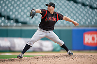 Indianapolis Indians pitcher JB Shuck (15) during an International League game against the Buffalo Bisons on June 20, 2019 at Sahlen Field in Buffalo, New York.  Buffalo defeated Indianapolis 11-8  (Mike Janes/Four Seam Images)
