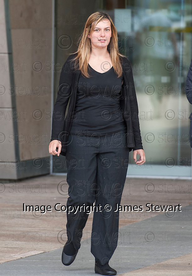 Kaitlyn MacDonald, 23, who works for the Dogs Trust, leaves Livingston Sheriff Court  after pleading guilty to charges of leaving her own dogs starving, thirsty and living in their own mess. Macdonald's duties at the Dogs Trust include canine caring, cleaning kennels, walking, feeding and grooming dogs, and administering medicine.