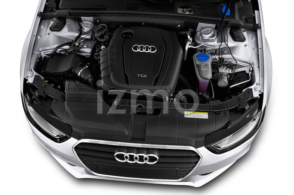 High angle engine detail of a 2014 Audi A4 AMBITION LUXE 5 Door Wagon 2WD