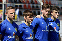 Scotland U21 players. From left to right, Alan Campbell, Billy Gilmour, Anthony Ralston and Michael Johnston during Turkey Under-21 vs Scotland Under-21, Tournoi Maurice Revello Football at Stade Francis Turcan on 9th June 2018