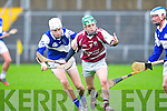Causeway's Seamus Breen gets in front of ardfert's Killian Wolff in the U21 hurling semi-final at Austin Stack, Tralee on Sunday.