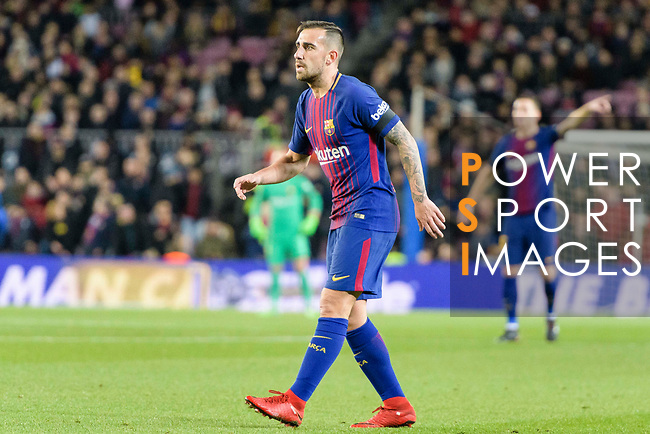 Paco Alcacer of FC Barcelona in action during the La Liga 2017-18 match between FC Barcelona and Deportivo La Coruna at Camp Nou Stadium on 17 December 2017 in Barcelona, Spain. Photo by Vicens Gimenez / Power Sport Images