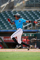 Miami Marlins Isaac De Leon (65) at bat during an Instructional League game against the Washington Nationals on September 25, 2019 at Roger Dean Chevrolet Stadium in Jupiter, Florida.  (Mike Janes/Four Seam Images)