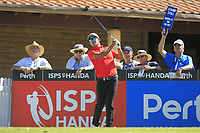 Rattanon Wannasrichan (THA) in action on the 1st during Round 3 of the ISPS Handa World Super 6 Perth at Lake Karrinyup Country Club on the Saturday 10th February 2018.<br /> Picture:  Thos Caffrey / www.golffile.ie<br /> <br /> All photo usage must carry mandatory copyright credit (&copy; Golffile | Thos Caffrey)