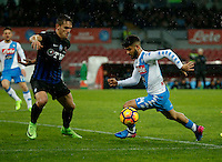 Lorenzo Insigne  during the SSC Napoli vs Atalanta, serie A  soccer match at  San Paolo Stadium in Naples , Italy 25 February 2017 Photo: Ciro De Luca ciro de luca<br />   +39 02 43998577 sales@silverhubmedia.it