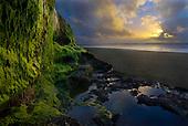 Sunset, Karioitahi beach, West coast, Franklin, North Island, New Zealand