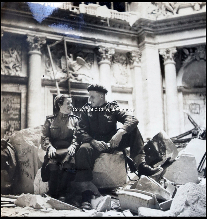 BNPS.co.uk (01202 558833)<br /> Pic:  ChiswickAuctions/BNPS<br /> <br /> Allies inside the Reichstag after heavy bombardment.<br /> <br /> Remarkable previously unseen photos documenting the momentous closing stages of World War Two and its historic aftermath have come to light.<br /> <br /> They were taken by Sergeant Charles Hewitt, of the Army Film and Photographic Unit, who later went on to work for the Picture Post and the BBC.<br /> <br /> He was present at many of the important offensives of 1944 and '45 including the Battle of Monte Cassino during the Italian Campaign and the Allies advance into Germany following the D-Day invasion.