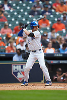Trey Dawson (2) of the Kentucky Wildcats at bat against the Sam Houston State Bearkats during game four of the 2018 Shriners Hospitals for Children College Classic at Minute Maid Park on March 3, 2018 in Houston, Texas. The Wildcats defeated the Bearkats 7-2.  (Brian Westerholt/Four Seam Images)