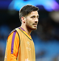 Manchester City's David Silva during the pre-match warm-up <br /> <br /> Photographer Rich Linley/CameraSport<br /> <br /> UEFA Champions League Round of 16 Second Leg - Manchester City v FC Schalke 04 - Tuesday 12th March 2019 - The Etihad - Manchester<br />  <br /> World Copyright &copy; 2018 CameraSport. All rights reserved. 43 Linden Ave. Countesthorpe. Leicester. England. LE8 5PG - Tel: +44 (0) 116 277 4147 - admin@camerasport.com - www.camerasport.com