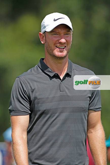 Chris Wood (ENG) walks to the 10th tee during the first round of the 100th PGA Championship at Bellerive Country Club, St. Louis, Missouri, USA. 8/9/2018.<br /> Picture: Golffile.ie | Brian Spurlock<br /> <br /> All photo usage must carry mandatory copyright credit (© Golffile | Brian Spurlock)
