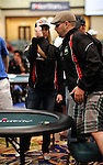 Team USA Captain Vanessa Rousso gives her teammate, Salvatore Buccieri a high five after he won his heads up match.