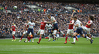Tottenham Hotspur's Harry Kane scores but the goal was disallowed for offside<br /> <br /> Photographer Rob Newell/CameraSport<br /> <br /> The Premier League - Tottenham Hotspur v Arsenal - Saturday 2nd March 2019 - Wembley Stadium - London<br /> <br /> World Copyright © 2019 CameraSport. All rights reserved. 43 Linden Ave. Countesthorpe. Leicester. England. LE8 5PG - Tel: +44 (0) 116 277 4147 - admin@camerasport.com - www.camerasport.com