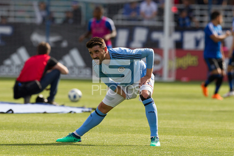 Santa Clara, CA - March 31, 2018: The San Jose Earthquakes lost to New York City FC 2-1 at Avaya Stadium in Santa Clara.