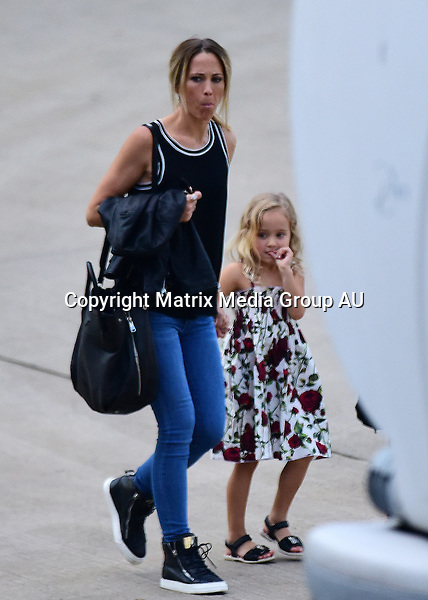 11 JANUARY 2016 SYDNEY <br /> AUSTRALIA<br /> <br /> EXCLUSIVE PICTURES<br /> <br /> The Hewitt's pictured on arrival at All Phones Arena for a Fast 4 Tennis Tournament. Lleyton and his son Cruz were the first to arrive followed by Bec and hour later with eldest daughter Mia and also Ava in tow. Mia outshone her famous mother in the fashion stakes on this occasion wearing an elegant black dress, with sandals and a leopard print handbag.<br /> <br /> *ALL WEB USE MUST BE CLEARED*<br /> <br /> Please contact prior to use:  <br /> <br /> +61 2 9211-1088 or email images@matrixmediagroup.com.au <br /> <br /> Note: All editorial images subject to the following: For editorial use only. Additional clearance required for commercial, wireless, internet or promotional use.Images may not be altered or modified. Matrix Media Group makes no representations or warranties regarding names, trademarks or logos appearing in the images.