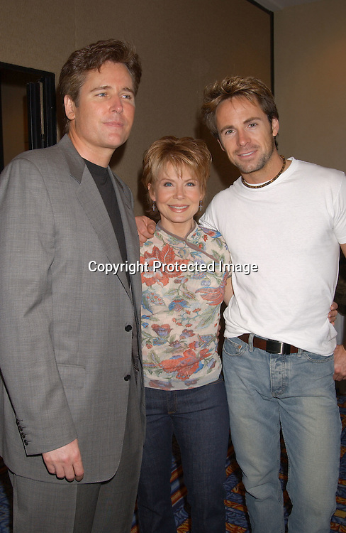 ..Michael E Knight, Julia Barr and William de Vry..at the All My Children Fan Club Luncheon on August 10,2003 at the Marriott Marquis Hotel in NYC. Photo by Robin Platzer, Twin Images