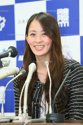 Rie Tanaka, <br /> DECEMBER 19, 2013 - Artistic Gymnastics : <br /> Japanese gymnast Rie Tanaka speaks to the media <br /> during a news conference <br /> announcing her retirement from competition<br /> at Nittai University, Tokyo, Japan. <br /> (Photo by YUTAKA/AFLO SPORT)