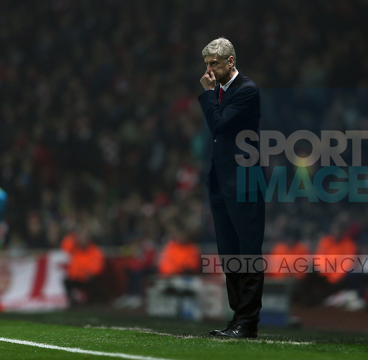 Arsenal's Arsene Wenger looks on<br /> <br /> UEFA Champions League- Arsenal vs Borussia Dortmund- Emirates Stadium - England - 26th November 2014 - Picture David Klein/Sportimage