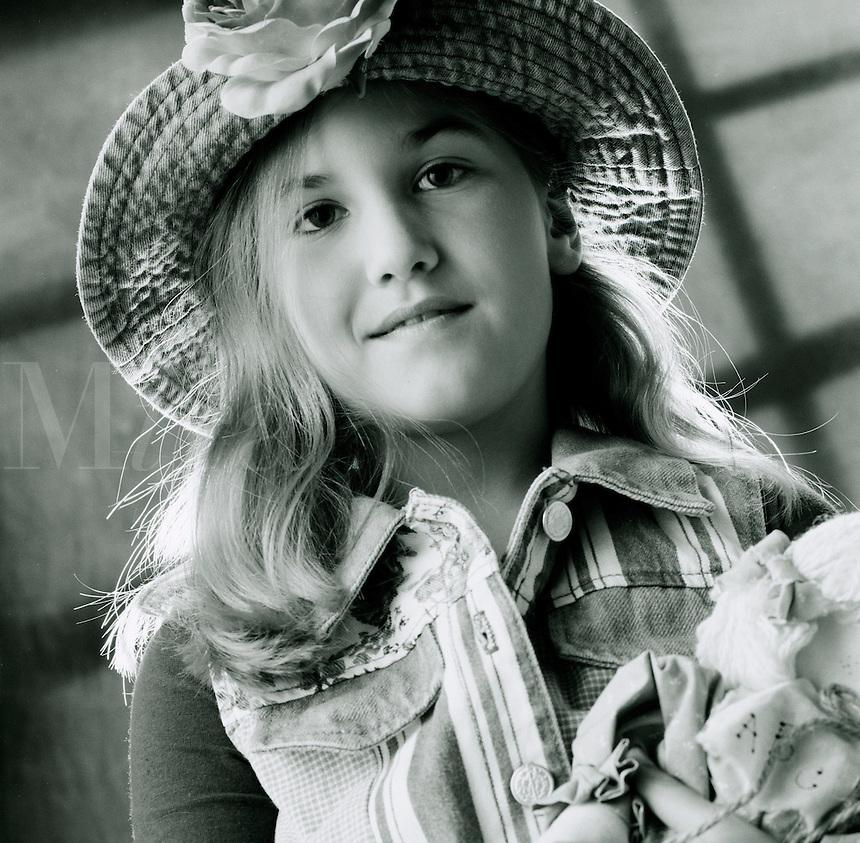 Cute pre-teen girl.