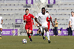 Orlando, Florida - Wednesday January 17, 2018: Frandtzy Pierrot. Match Day 3 of the 2018 adidas MLS Player Combine was held Orlando City Stadium.