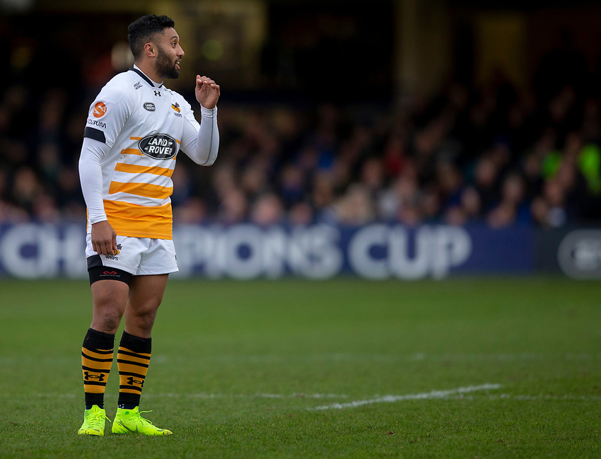 Wasps' Lima Sopoaga<br /> <br /> Photographer Bob Bradford/CameraSport<br /> <br /> European Rugby Heineken Champions Cup Pool 1 - Bath Rugby v Wasps - Saturday 12th January 2019 - The Recreation Ground - Bath<br /> <br /> World Copyright © 2019 CameraSport. All rights reserved. 43 Linden Ave. Countesthorpe. Leicester. England. LE8 5PG - Tel: +44 (0) 116 277 4147 - admin@camerasport.com - www.camerasport.com
