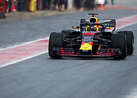 MAX VERSTAPPEN (NED) of Aston Martin Red Bull Racing TAG Heuer during Day 2 of the 2018 Formula 1 Testing at the Circuit de Catalunya, Barcelona. on 27 February 2018. Photo by Vince  Mignott.
