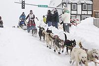 Saturday, March 3, 2012  Ceremonial Start of Iditarod 2012 in Anchorage, Alaska.
