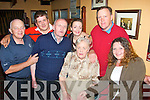 7351-7355.---------.Moms Party: Mary Mackessy, Basin View, Tralee (seated centre) celebrated a special birthday in the Munster bar,Ballymullen,Tralee last Friday night,pictured with her was John O'Sullivan,Danny Kamsteiss,Michael Ryan,Helen&Gerard Mackessy and Shelia Moriarty.